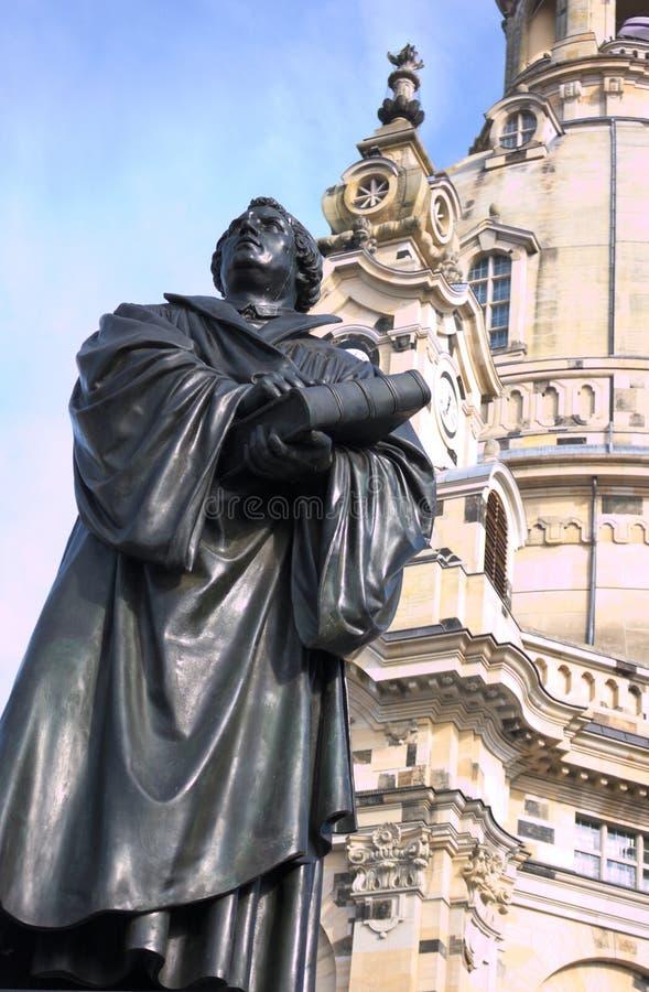 Luthergedenkteken - II - Dresden - Duitsland royalty-vrije stock afbeelding