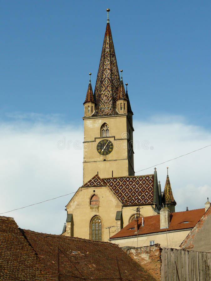 Lutherian cathedral stock photos