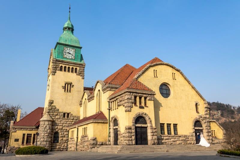 Lutherische Kirche, Qingdao, China lizenzfreie stockbilder