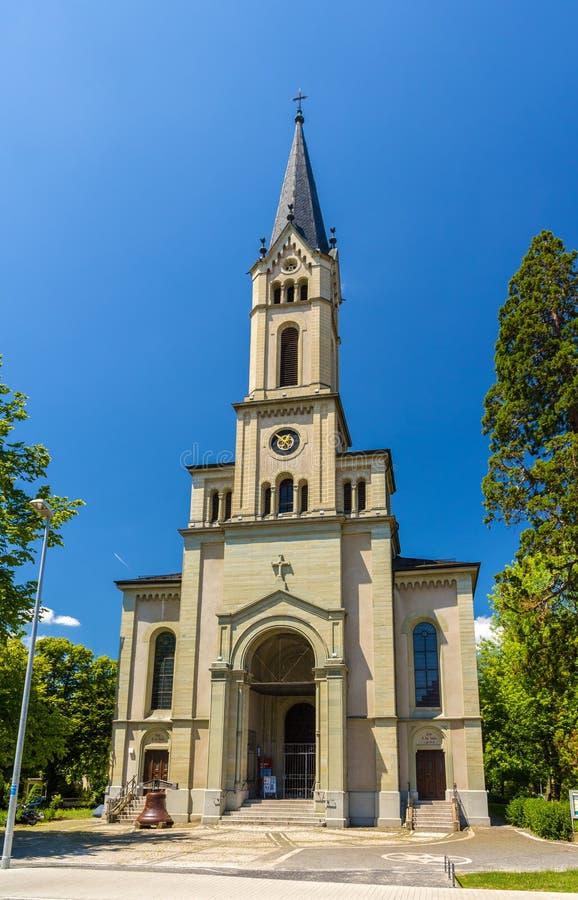 Lutherkirche,一个教会在康斯坦茨,德国 库存照片
