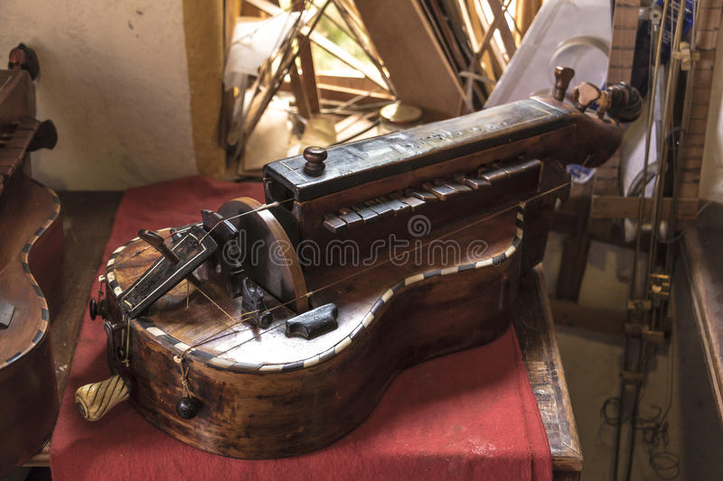 Luthier. Diferent instruments from a luthier workshop royalty free stock photo