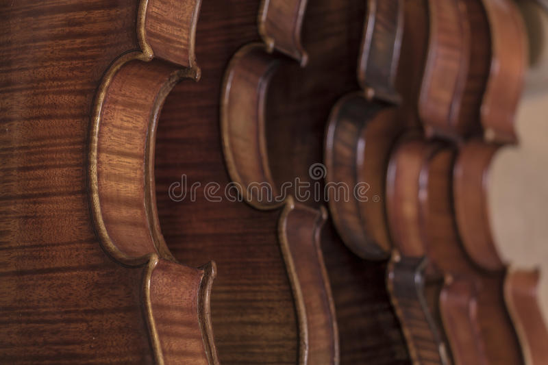 Luthier. String instruments made and reconstructed by a luthier royalty free stock photo