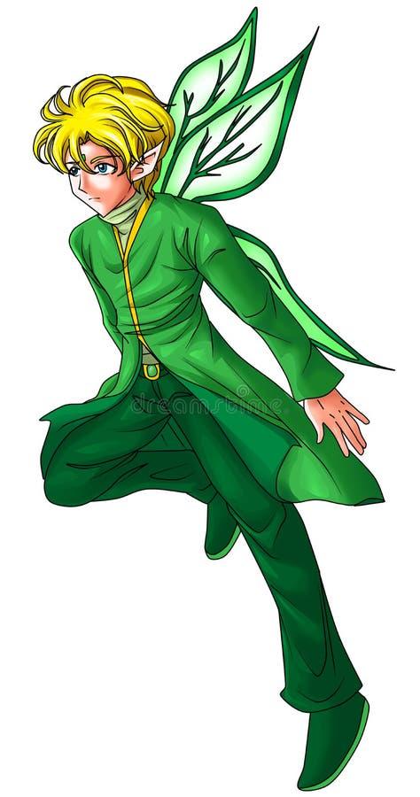 Lutin vert illustration stock