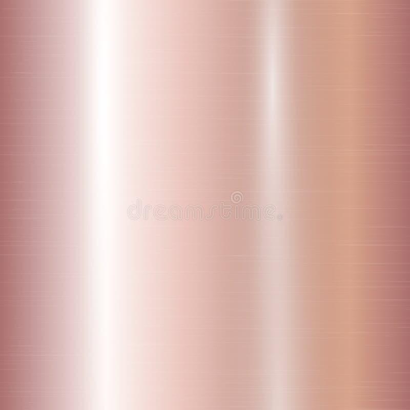 Lutning av rosa guld royaltyfri illustrationer