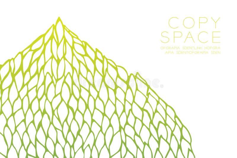 Lutningar för guling för gräsplan för design för kronbladblommamodell färgar stock illustrationer