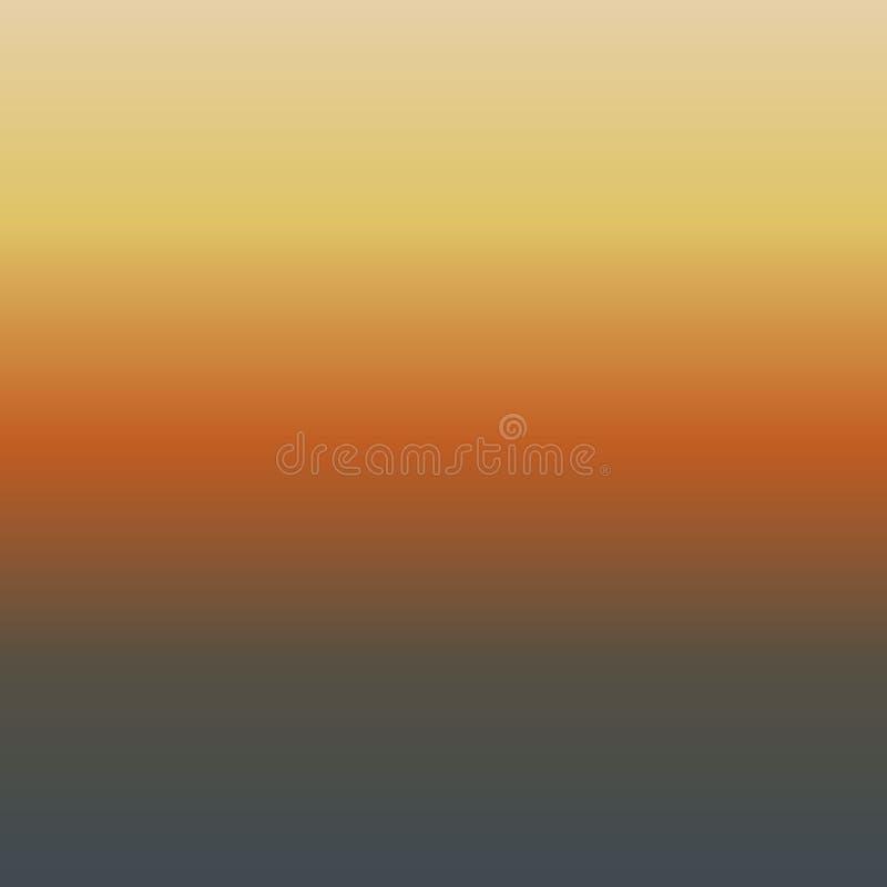 Lutningbakgrund av apelsinen, beige, gult och brunt royaltyfri illustrationer