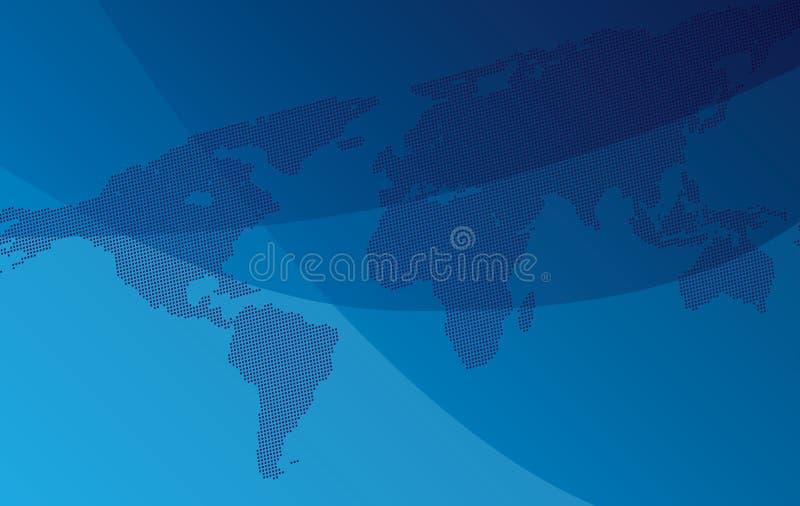 Lutningbakgrund med översikten av världen stock illustrationer