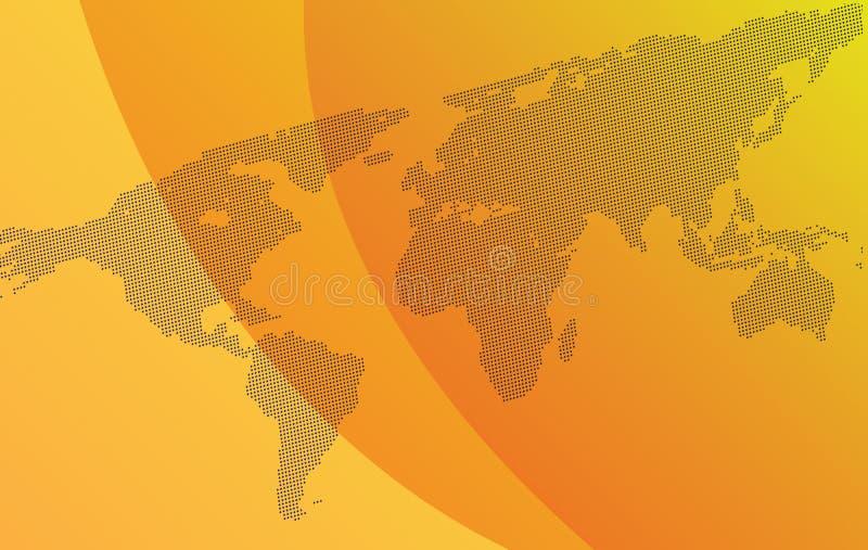 Lutningbakgrund med översikten av världen royaltyfri illustrationer