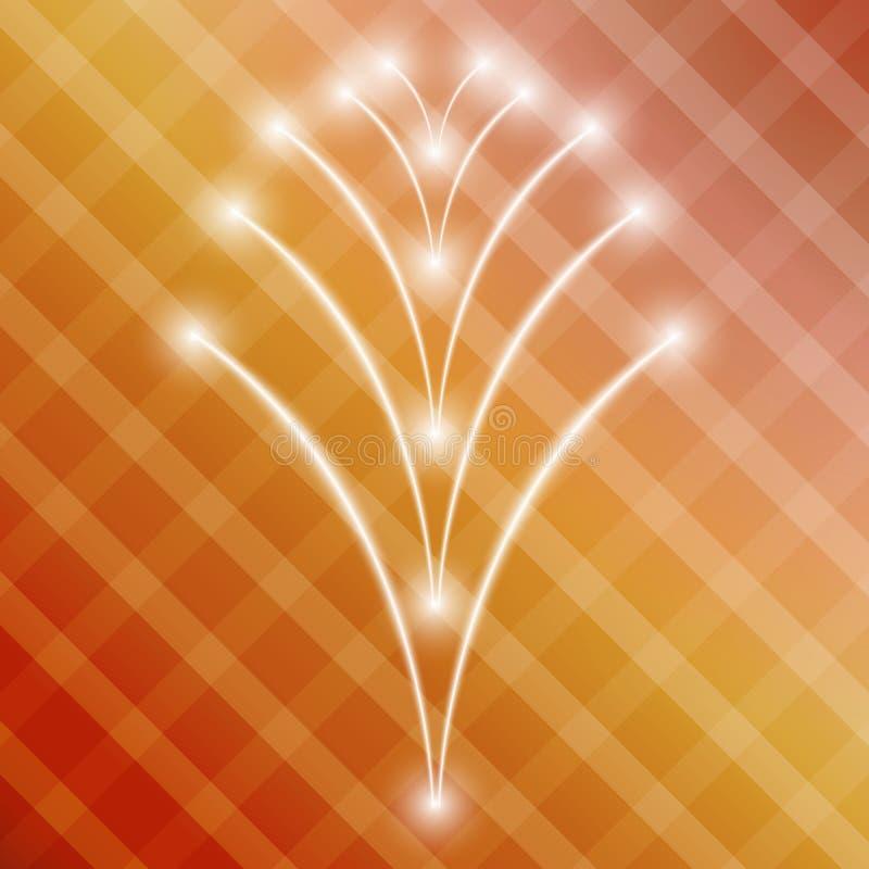 Lutningbakgrund med fyrkanter och glänsande stjärnor vektor illustrationer