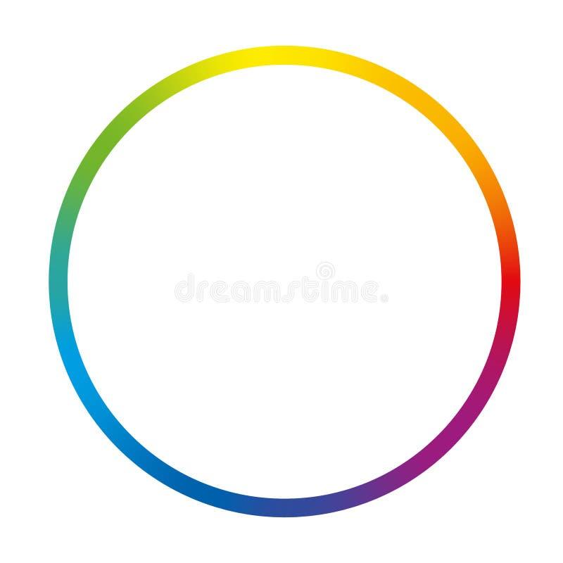 Lutningfärg Ring Rainbow Circle vektor illustrationer