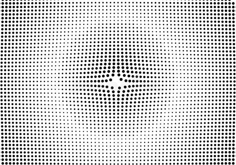 Lutninghalvton pricker bakgrund Mall för popkonst, textur Ve vektor illustrationer