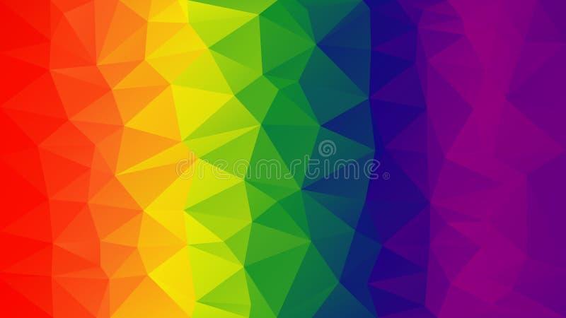 Lutningpolygonbakgrund Den spektral- modellen royaltyfri illustrationer