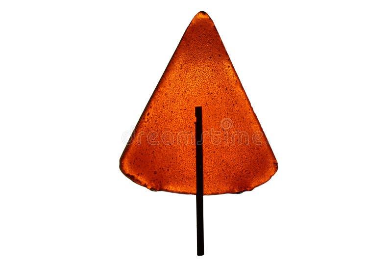 Lutscher für Kinder der Orange in Form einer Dreieckpyramide I lizenzfreie stockfotos