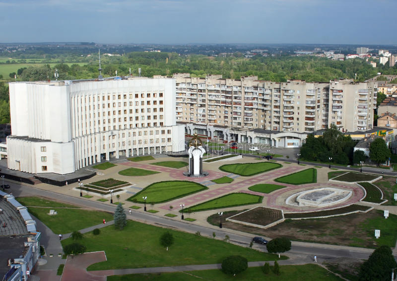 Lutsk, Ukraine - Aerial View Royalty Free Stock Images