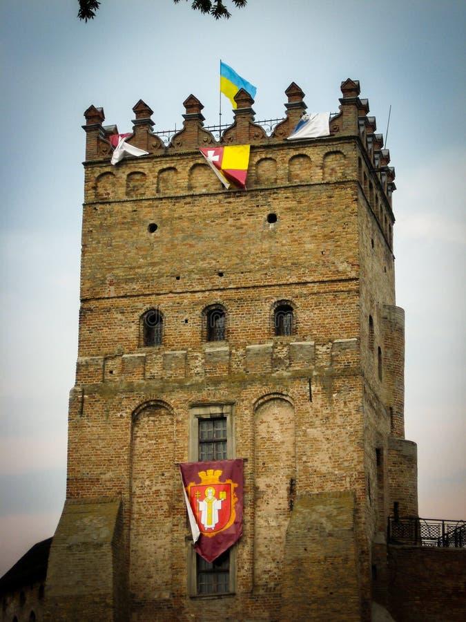 Lutsk, Ukraine - August 23, 2008: Tower of Lutsk castle stock photo