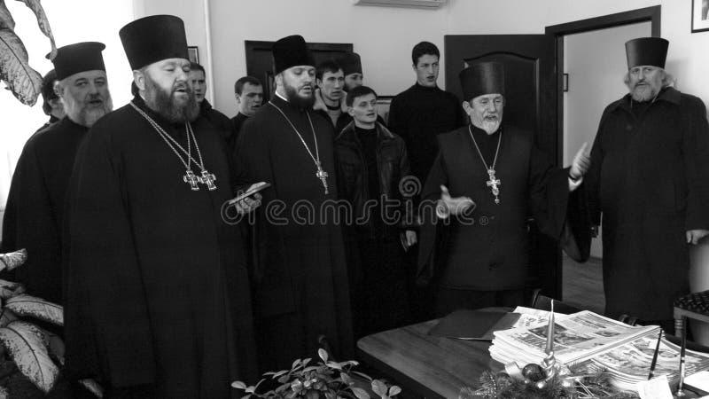 Orthodox religious choir stock photo