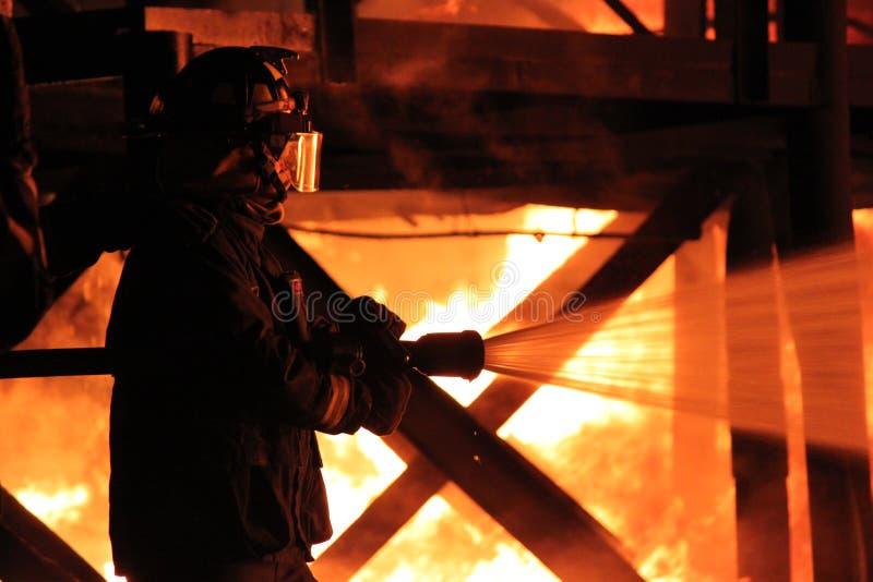 Lutte contre l'incendie photographie stock libre de droits