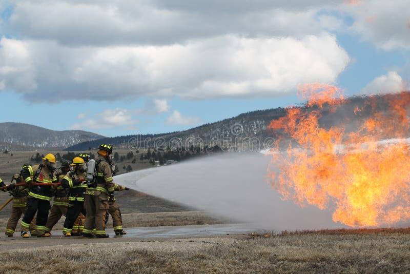 Lutte contre l'incendie au Nouveau Mexique images libres de droits