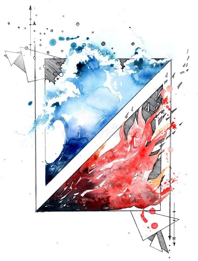 Lutte des opposúx illustration libre de droits