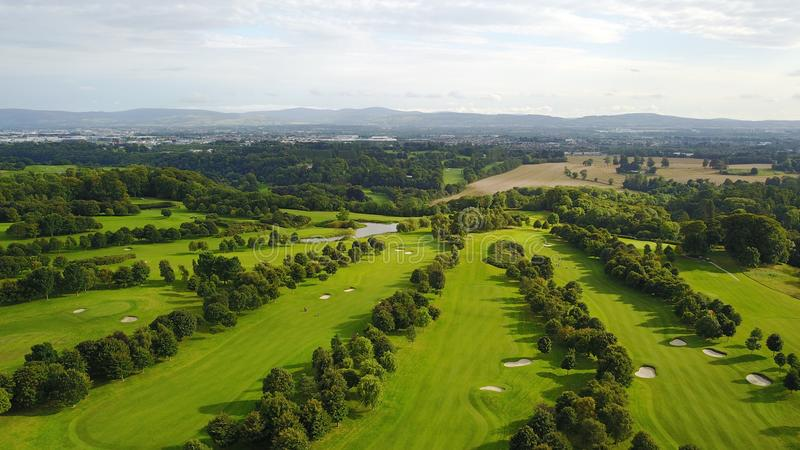 Luttrellstown城堡高尔夫俱乐部 免版税库存照片