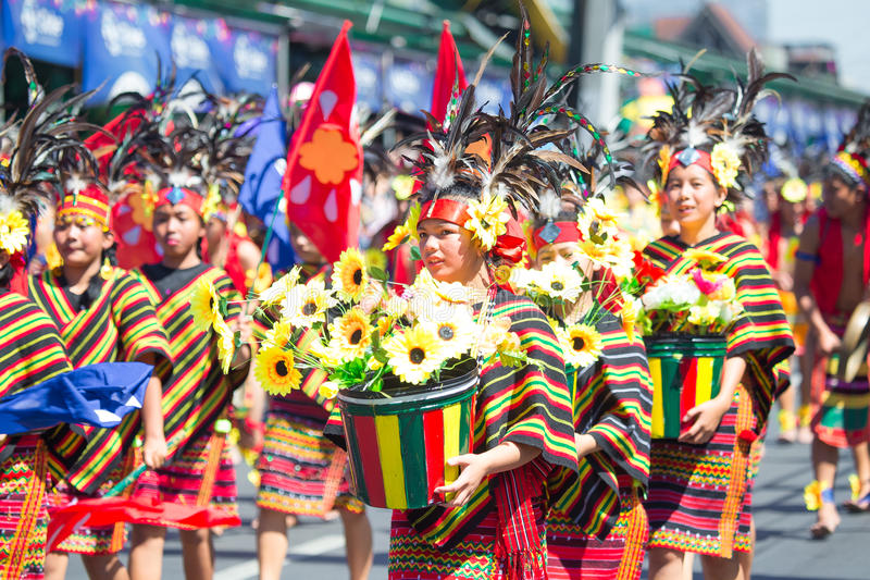 Luty 27, 2015 Baguio, Filipiny Baguio Citys Panagbenga F fotografia royalty free