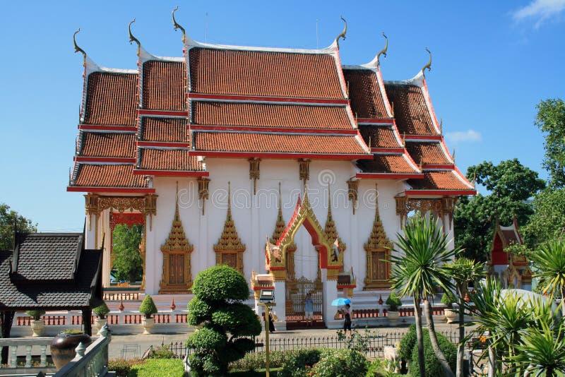 13 2019 Luty, Wat Chalong, Phuket, Tajlandia zdjęcia stock