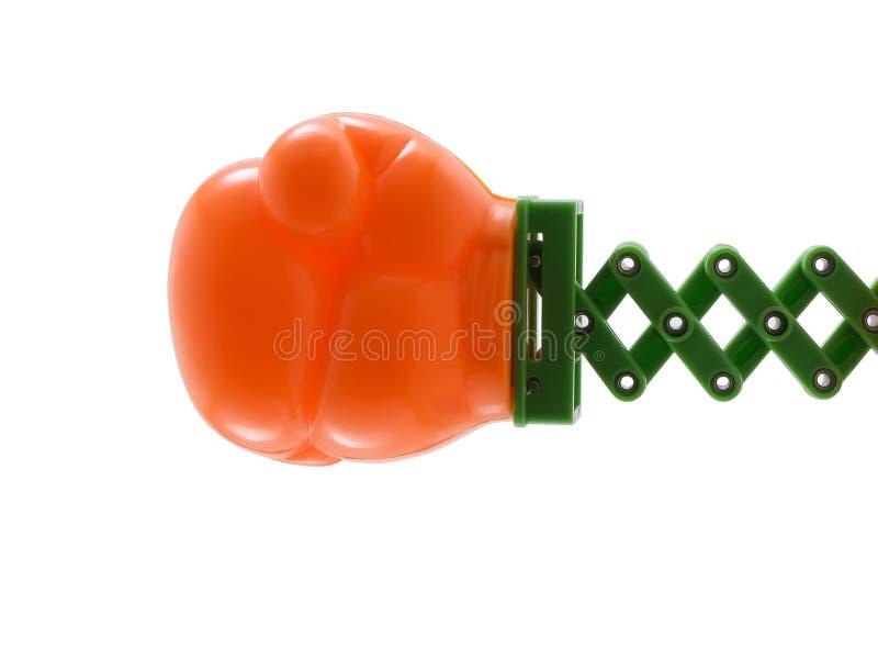 Luva de encaixotamento do brinquedo imagem de stock