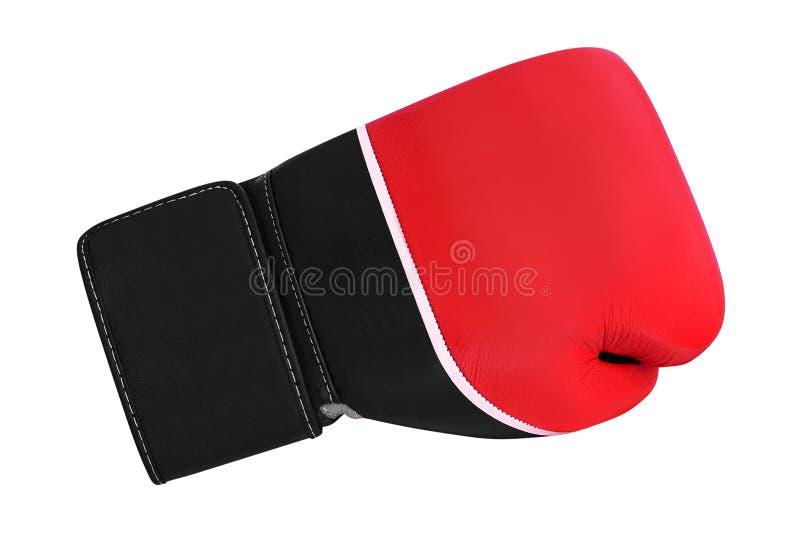 Luva de encaixotamento vermelha fotografia de stock