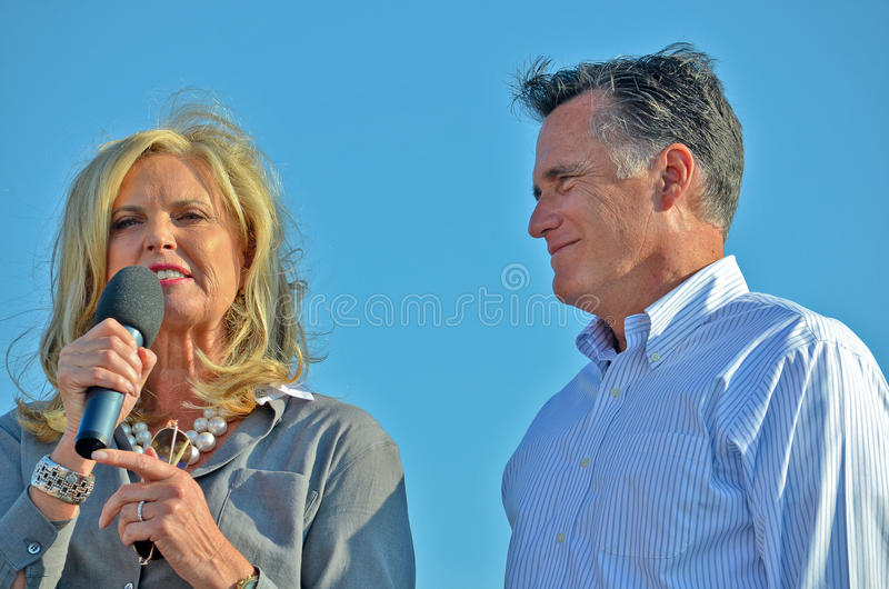 Luva e Ann Romney fotografia de stock royalty free