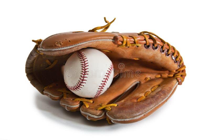 Luva e esfera de basebol imagens de stock