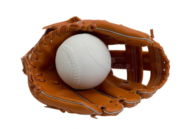Luva e esfera de basebol fotos de stock royalty free