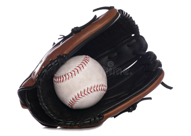Luva e esfera do softball foto de stock royalty free