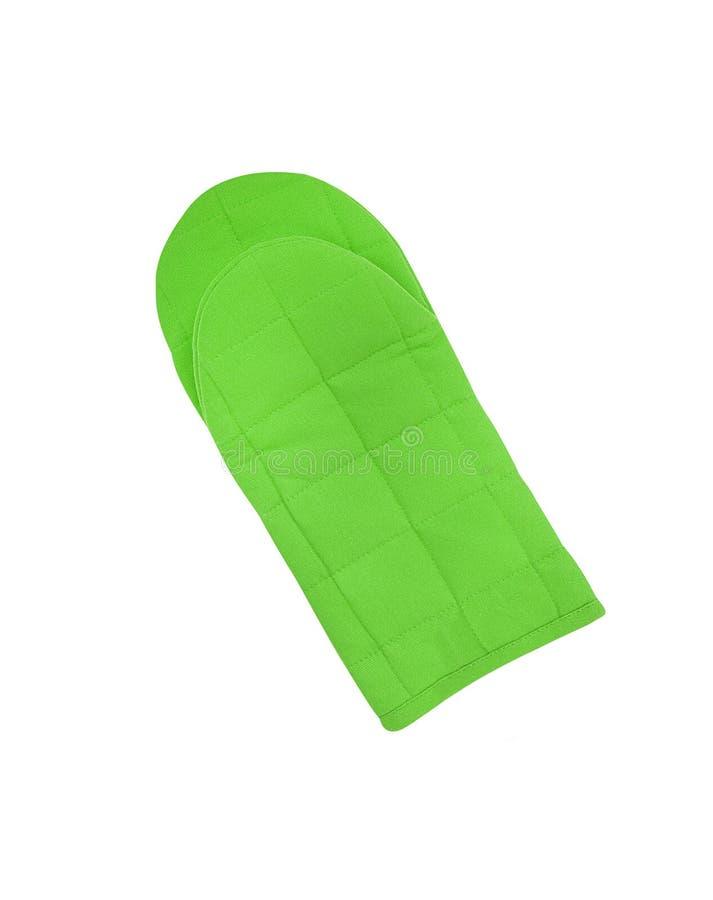 Luva verde da cozinha foto de stock royalty free