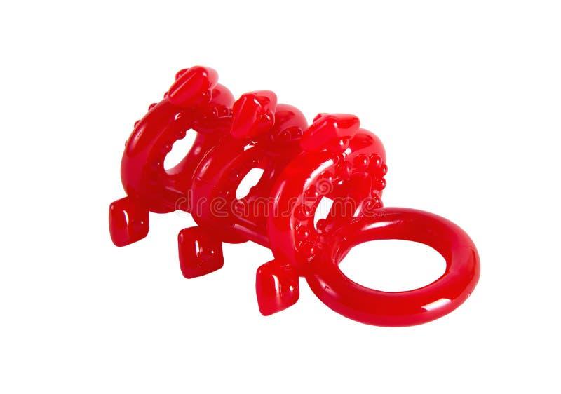 Luva vermelha do pênis do laço fotografia de stock royalty free