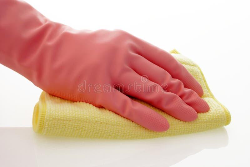 Luvas cor-de-rosa foto de stock