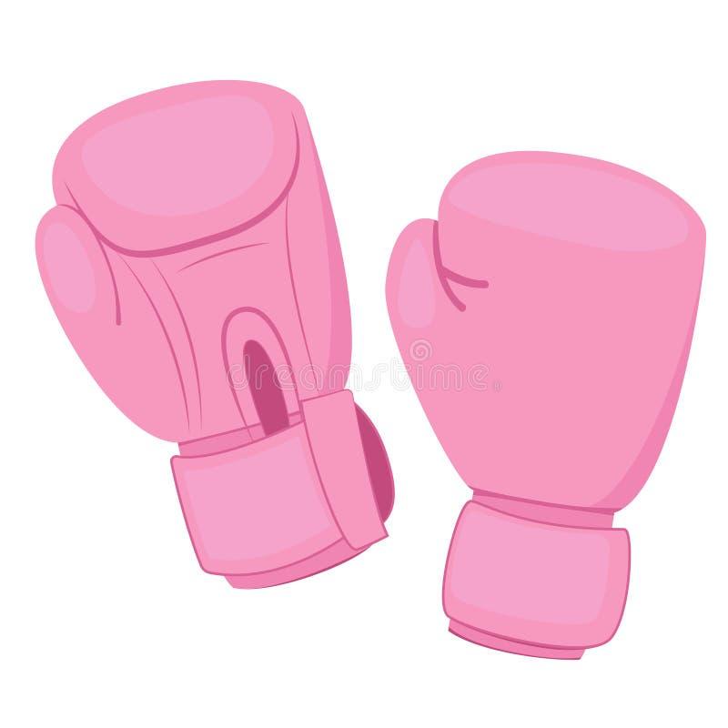 Luvas de encaixotamento cor-de-rosa ilustração do vetor