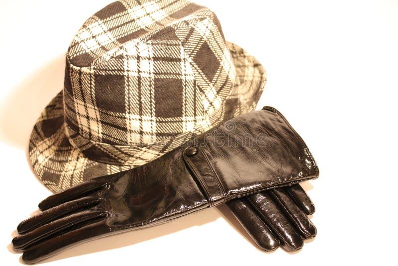 Luvas e chapéu imagens de stock