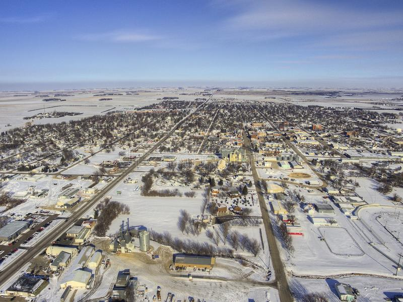 Luverne w Południowym Zachodnim Minnestoa podczas zimy fotografia stock