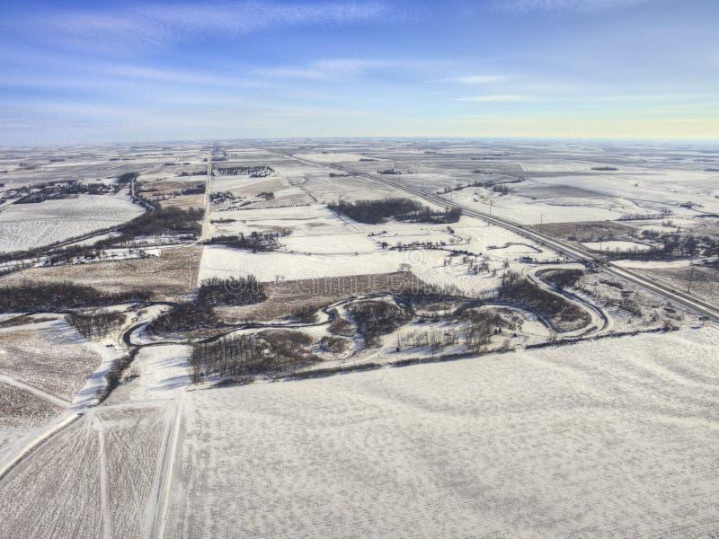 Luverne w Południowym Zachodnim Minnestoa podczas zimy zdjęcia stock