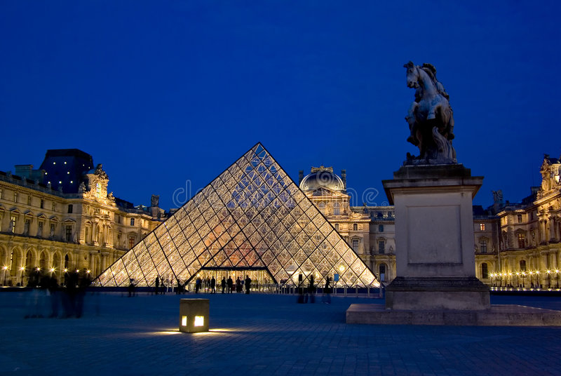 luwr du France musee Paryża fotografia stock