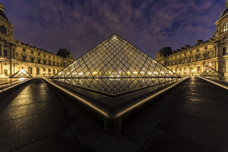 luwr muzeum Paryża zdjęcie royalty free