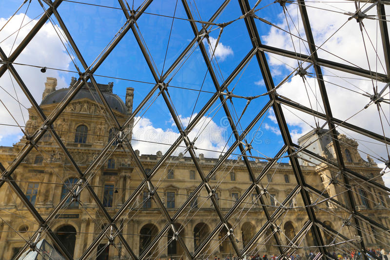 luwr Paryża obrazy royalty free