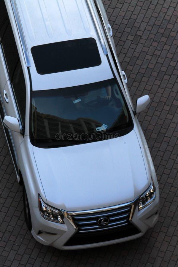 Lux SUV visto de cima no recurso luxuoso de Key Biscayne foto de stock