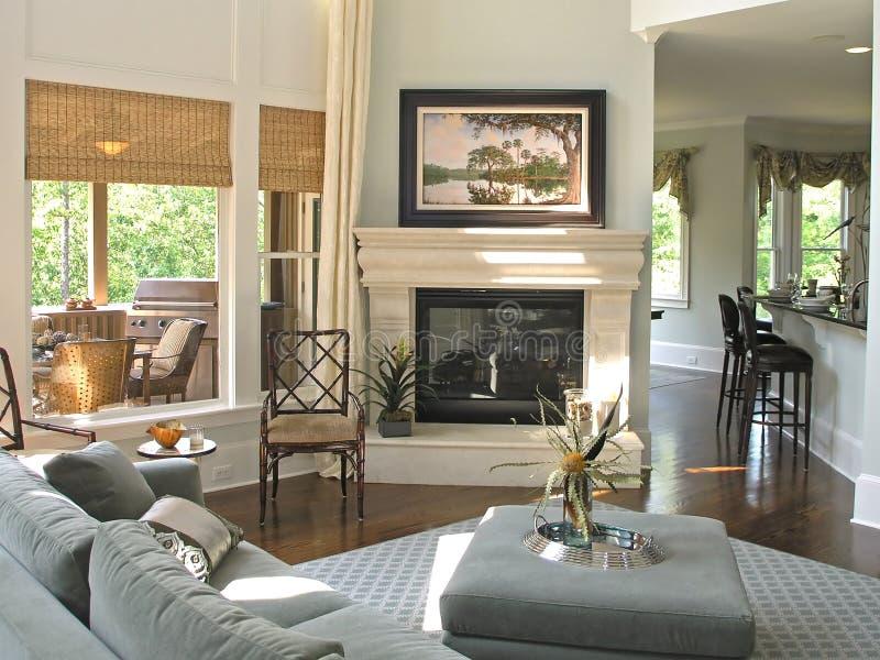 Luxe 7 - woonkamer 1 royalty-vrije stock afbeeldingen