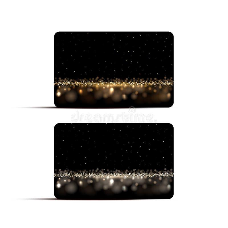 Luxe achtergrondkaartmalplaatjes Vector gouden en zilveren luxeachtergronden voor giftbon, korting of creditcards royalty-vrije illustratie