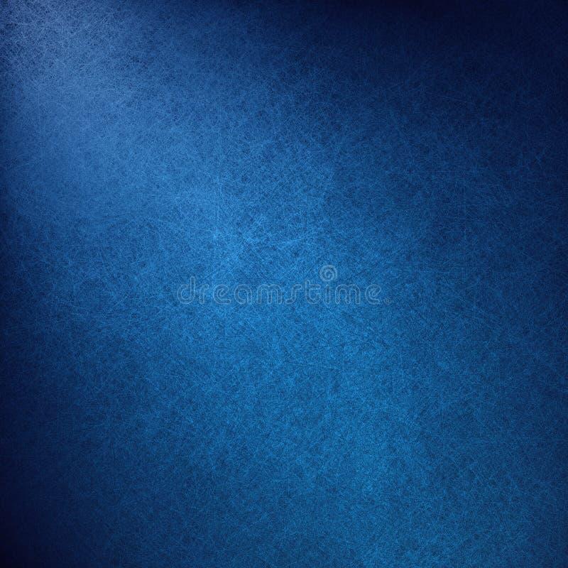 Luxe blauwe achtergrond met elegante witte hoekverlichting en uitstekende canvastextuur royalty-vrije illustratie