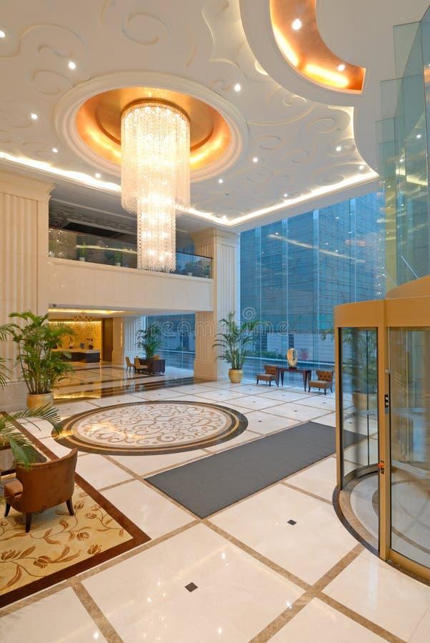 luxe d'entrée d'hôtel photos stock