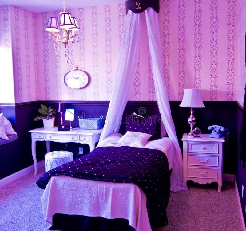 luxe d'intérieur de chambre à coucher photos libres de droits