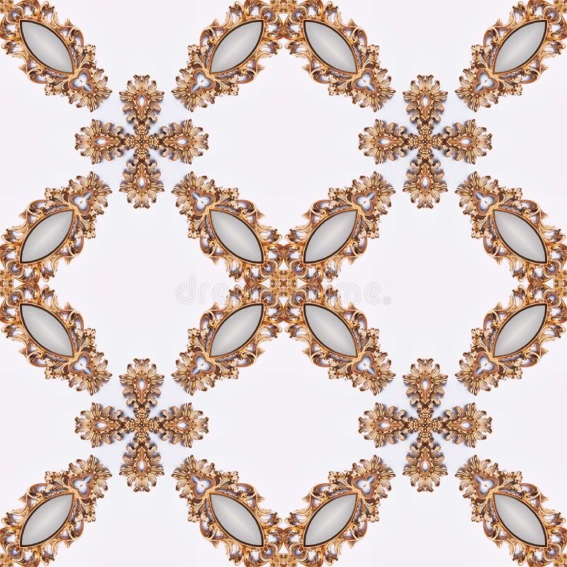 Luxe elegante sier gouden achtergrond royalty-vrije illustratie
