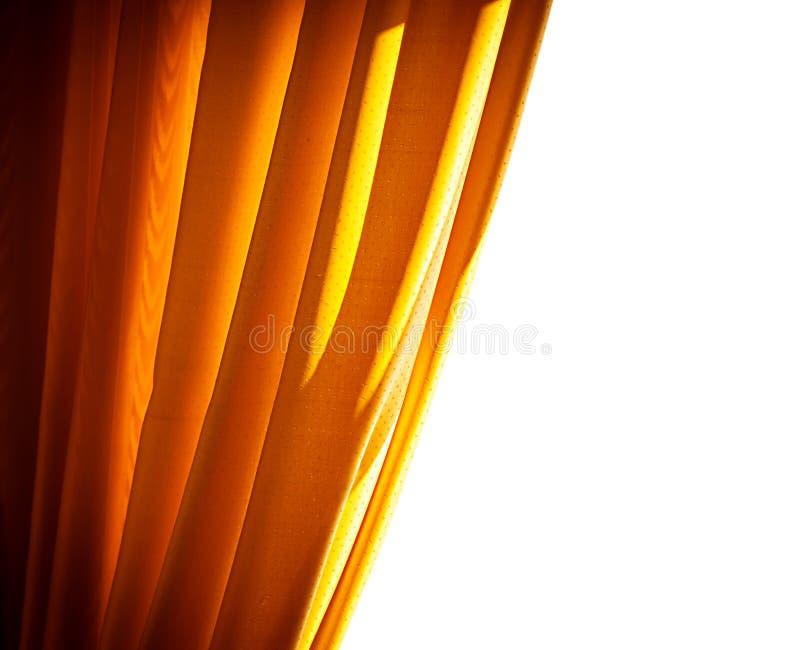 Luxe gouden gordijn stock foto